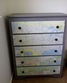 Great redecorating idea for map lovers!