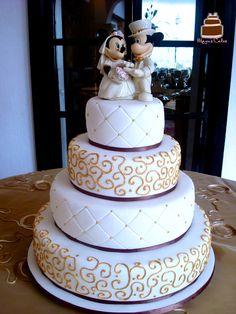 Fondant Wedding Cake Picture