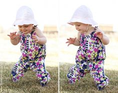 Tutorial and pattern for a long-legged bubble romper for your favorite springtime explorer!