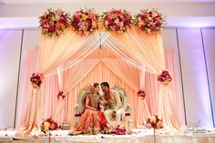 Peachish yellow mandap