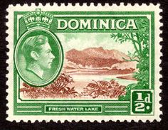 Dominica 1937, George VI.  The island that moved! from The Leeward to the Windward Islands.   Can't see a stamp from this country without thinking of the Singing Nun. (my private hell!).  AM