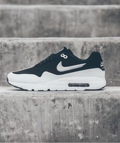official photos a2d74 e3a1e Nike Air Max 1 Ultra Moire Black White  Continuing with its redesigned Air  Max 1 Ultra Moire, silhouette Nike reveals an all-new black and white color  ...