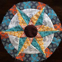 Camelot Block 12/16 #camelotquilt #handpieced #patchwork by FarahLin, via Flickr