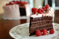 I was asked to bring a dessert to a bridal shower. The bride requested chocolate and raspberries.     Chocolate is my thing and rasp...