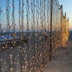 4. Hang Party Lights Everywhere - Soft outdoor lights can transform an outdoor space and instantly make an al fresco party feel romantic and special.
