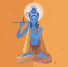 image of god krishna Radha Krishna Images, Krishna Photos, Krishna Radha, Radha Rani, Indian Gods, Indian Art, Madhubani Painting, Lord Vishnu, Hindu Deities