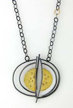 Spin Pendant: Sydney Lynch: Gold & Silver Necklace | Artful Home