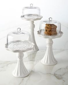 Pedestal Servers with Domes, 3-Piece Set at Neiman Marcus.