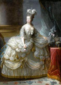 m) im Vorzimmer der Königin (Antichambre du Grand Couvert) hängen viele Bilder von berühmten Frauen, hier Königin Marie Antoinette
