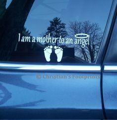 I am a mother or father to an angel memory window by mporada, $2.00