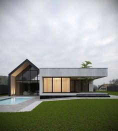 37 Stunning Contemporary House Exterior Design Ideas You Should Copy - Today, contemporary house plans are very intelligently designed to give utmost comfort to the people. These plans not only feature flexible floor spac. Modern Barn House, Contemporary House Plans, Modern House Design, Contemporary Barn, Exterior Tradicional, Dream House Exterior, Villa Design, Facade House, House Exteriors