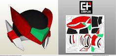 Papercraft .pdo file template for Megaman - Zero Helmet +Foam+.