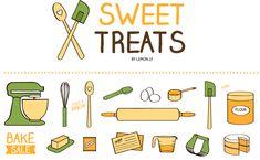 Sweet Treats Baking & Kitchen Icons :)