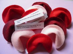 10 Felt Fortune Cookies for Birthday, Wedding, Anniversary, Baby Shower made by whimsicalaccents