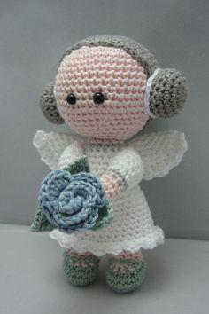 Blume-Angel sofort-Download Amigurumi Puppe häkeln von NenneDesign