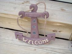 primitive nautical | Ginny Myrt Primitives : Nautical Anchor - Lg Wood - $14.95