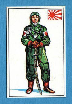 ARMI E SOLDATI - Edis 71 - Figurina-Sticker n. 391 - PILOTA GIAPPONESE -Rec
