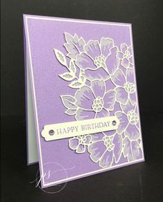 Blossoms in Bloom card using Stampin' Up! products