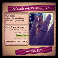 The Ring Fits!! Congrats on the Amazing Accomplishment Ericka Chavez! You worked Very Hard :) #BeyourBeauty247 #Herbalife #Level10Lifestyle