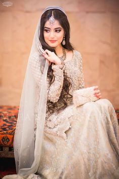 Find the latest bridal walima dress designs ever you seen before. We have gathered best designer walima dresses from off the ramp and other fashion shows at one place. Desi Bride, Desi Wedding, Wedding Bride, Nikkah Dress, Dulhan Dress, Bridal Photoshoot, Pakistani Wedding Dresses, Bridal Outfits, Saris