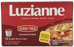 Luzianne Iced Tea, Unsweetened, 12 Count - http://teacoffeestore.com/luzianne-iced-tea-unsweetened-12-count/