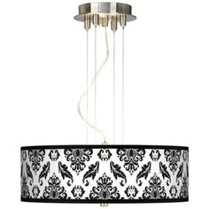 "Black Filigree 20"" Wide 3-Light Pendant Chandelier 