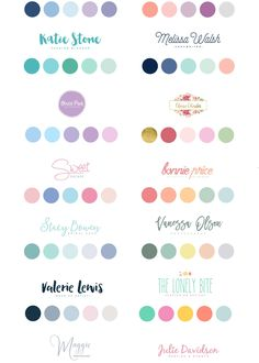 I like the color schemes under the words Melissa Walsh, Bonnie Price, and Sweet Escape color pAlette Pastel Colour Palette, Colour Pallette, Colour Schemes, Pastel Colors, Color Combos, Summer Color Palettes, Website Color Schemes, Paint Color Palettes, Good Color Combinations