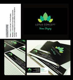 Création de l'image corporative de Lotus Concept | Home Staging Design Graphique, Home Staging, Playing Cards, Cards, Game Cards, Playing Card