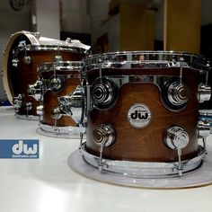 Hand-Rubbed Satin Walnut Finish. #dwdrums #thedrummerschoice