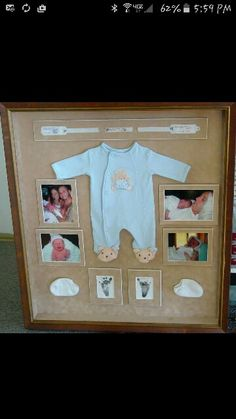 Cute Idea for a baby keep sake in baby's room :-)