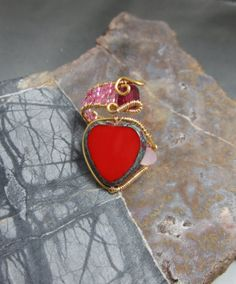 Checkout this amazing product CLEARANCE - Valentine Heart Wire Wrap RIng, adjustable at Shopintoit