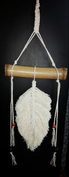 #gift #bohodecor #macramefeather #wallhanging Hippie Accessories, Bag Accessories, Festival Tops, Hippie Festival, Wooden Beads, Boho Decor, Hippie Boho, Fun Crafts, Pixie