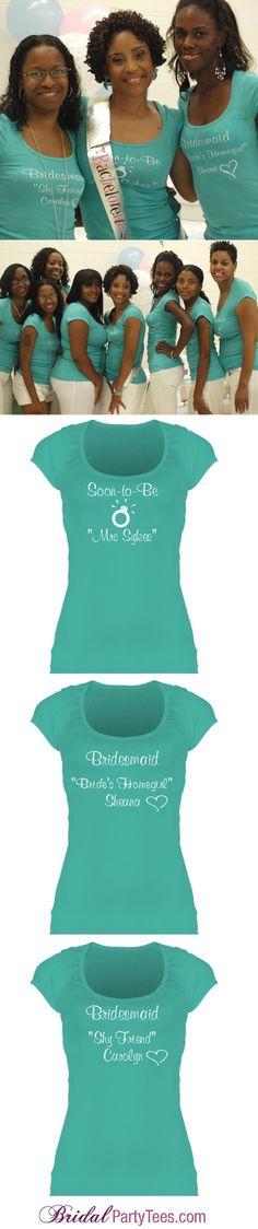 Nickname Heart Tee: Custom Junior Fit Bella Sheer Longer Length Scoopneck T-Shirt - Bridal Party Tees - Bridesmaids Shirts