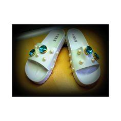 Sandal for swimming pool, sea and for a walk ! Slipper Sandals, Swimming Pools, Walking, Slippers, Handmade, Shoes, Fashion, Swiming Pool, Moda