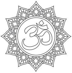 Find inner strength and spirituality in this delicate Om design. Downloads as a PDF. Use pattern transfer paper to trace design for hand-stitching.