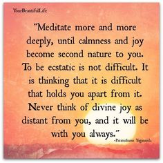 Meditation is a path to practicing more calmness and joy.
