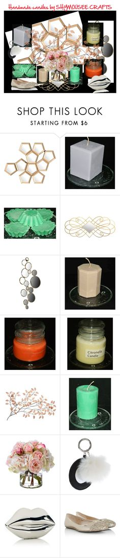 """Handmade candles by SHYMOUSEE CRAFTS"" by andreadesigns1 ❤ liked on Polyvore featuring interior, interiors, interior design, home, home decor, interior decorating, Eichholtz, Diane James, Topshop and Lulu Guinness"