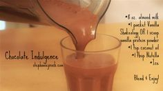 Chocolate Indulgence: craving a chocolate fix? This will satisfy your sweet tooth in seconds! Coconut oil, nutella, almond milk and tasty chocolate shakeology... www.stephaniejiroch.com #shakeology #chocolate #nutrition #recipe