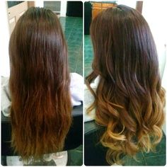 Before and After.. Ombre