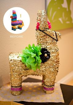 {DIY Decor} 3 Ways to Glam Up Your Fiesta Burros! // Hostess with the Mostess® Mexican Fiesta Party, Fiesta Theme Party, Taco Party, Fiesta Party Centerpieces, Mexican Pinata, Mexican Fiesta Decorations, Golden Birthday, 25th Birthday, 30th