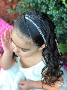 Little Girls Natural Hairstyles, Cute Little Girl Hairstyles, Cute Hairstyles For Medium Hair, Braided Ponytail Hairstyles, Baddie Hairstyles, Medium Hair Styles, Long Hair Styles, Baby Hair Cut Style, Anna Hair