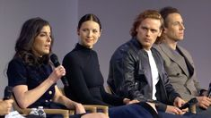 Outlander Cast Interview with Caitriona Balfe, Sam Heughan , Tobias Menzies - great Interview ..