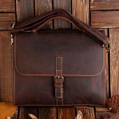 43712e068fdd ROCKCOW Classic Leather Messenger Satchel Laptop Leather Briefcase Bag  Leather Messenger Bag 8902 - ROCKCOWLEATHERSTUDIO Leather