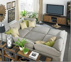 big sectional for a movie room... Plenty of space for people who like to lean & people who like to lay down...