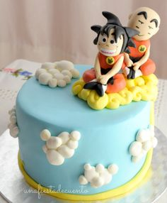 Dragon Ball Goku Krilin fondant cake