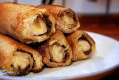 Nutella & Banana French Toast Roll Ups. Dear Lord Sweet Baby Jesus