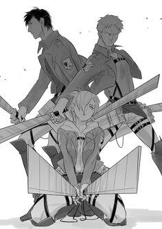Tags: Anime, Shingeki no Kyojin, Annie Leonhardt, Reiner Braun, Bertholdt Fubar