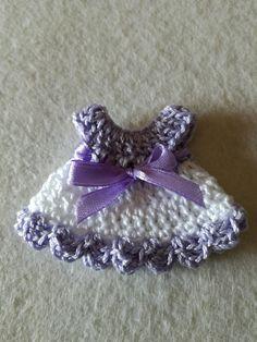 Mini vestitino uncinetto bomboniera battesimo nascita set da 5 : Bomboniere di evfaidate