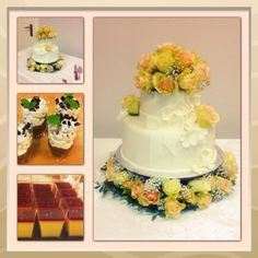 Weddingcake,panna cotta and oreodesserts