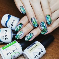 This Marbled Mani is absolutely stunning! Alla Kinder is a phenomenal artist! She used Polish Pro Light Cured Gel Polish for this Marbled Mani